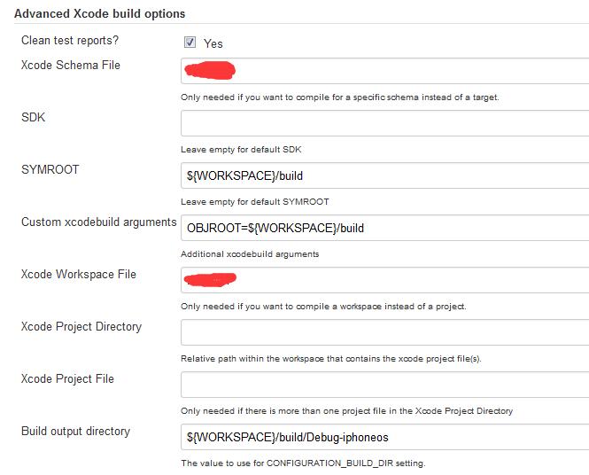 Advanced Xcode build options